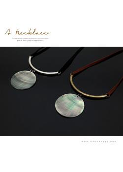 <b><font color=black>Round necklace necklace</font></b> <br> -JE40708-