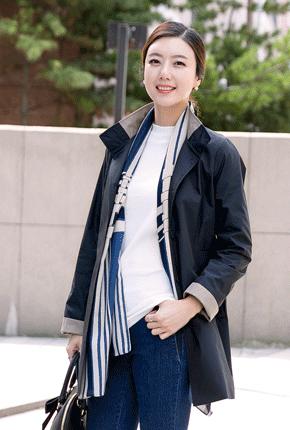 <b><font color=black>Shirring Kara color button jacket</font></b> <br> -JK708009-