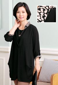 <b><font color=black>Leo-cara blouse</font></b> <br> -BL30829-