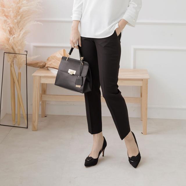 Waist bending basic suit pants-FPN710018-