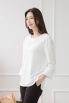 Round hem pearl shirt - FTE710023-