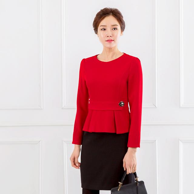 <b><font color=black>One button point dress</font></b> <br> -OP711017-