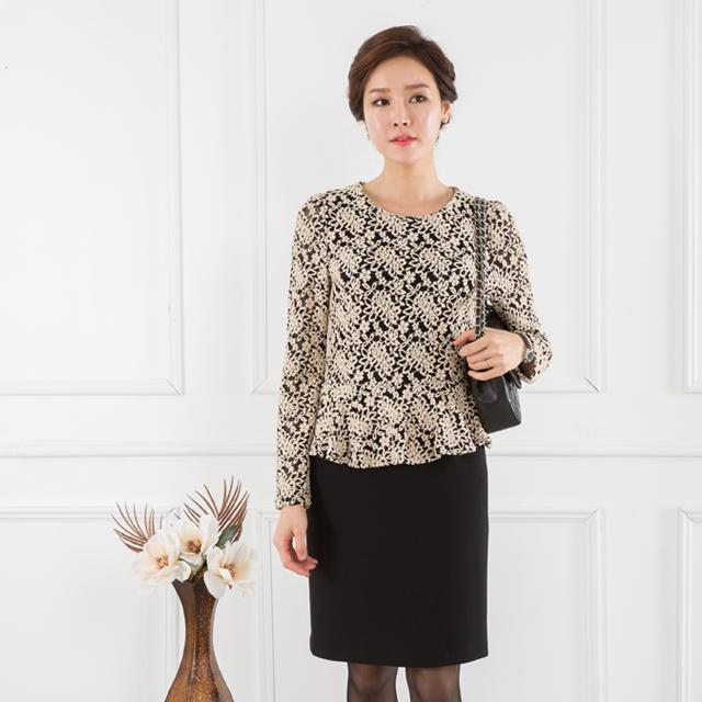 <b><font color=black>Gold lace dress</font></b> <br> -OP711016-
