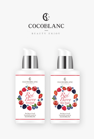 El Coco Blanc Red Berry Daily Skin Set
