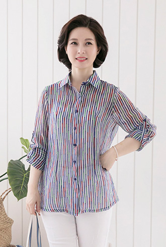 Rainbow collar shirt-BL905042-
