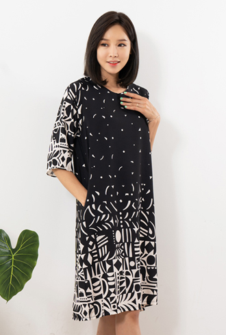 Black and White Dress-OP908014-