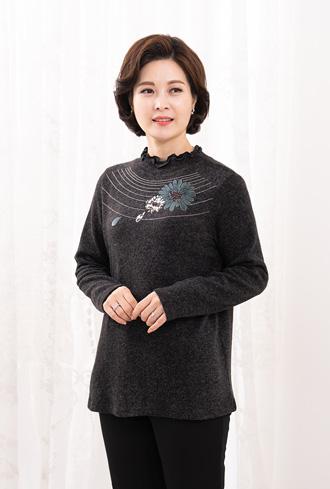 Flower long-sleeved T-shirt-TE911077-