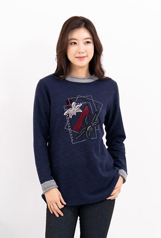 Velvet Flower Coloring T-Shirt-TE911084-