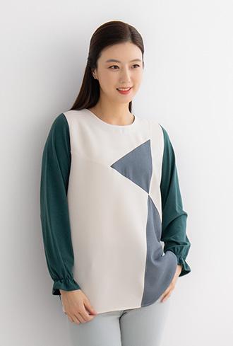 Tie-cut T-shirt -TE001048-